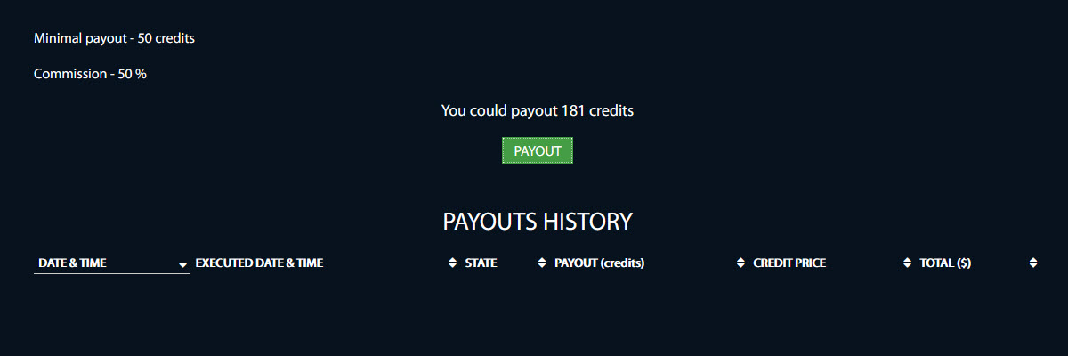 Step 1: Payout info